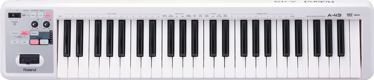 Roland A-49-WH MIDI Keyboard Controller image