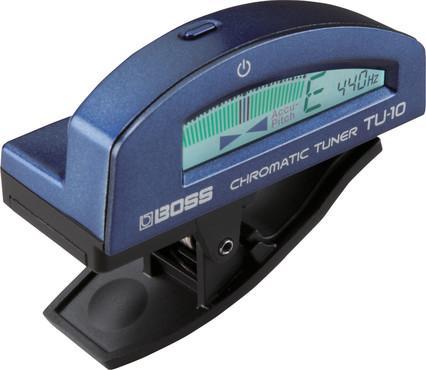 Boss TU-10-BU Clip-On Chromatic Tuner Blue image