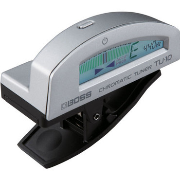 Boss TU-10 Clip-On Chromatic Tuner Silver image