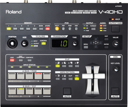 Roland V-40HD Multi-Format Video Switcher image