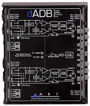 ART dADB Dual Active Direct Box image