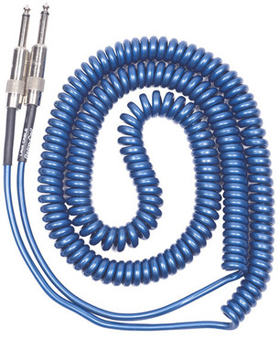 Lava 20 Retro Coil 1/4 to R/A Silent coiled (metallic blue) image