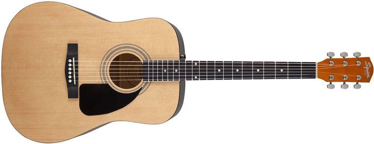 Fender Squier SA-150 Dreadnought Natural 0