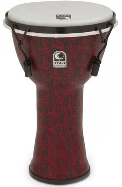Toca TF2DM-9RM Freestyle II Mechanically Tuned Djembe Red Mask 0