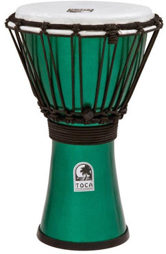 Toca TFCDJ-7MG Freestyle Colorsound Djembe X-Small Metallic Green 0
