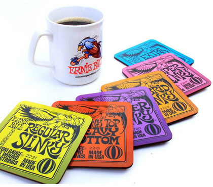 Ernie Ball 4003 Guitar String Cup Drink Coasters 1