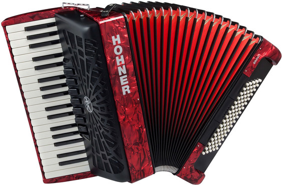 Hohner SilentKey New Bravo III 80 Red 0