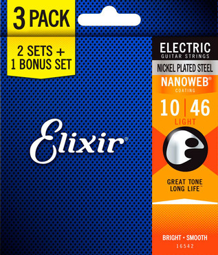 Elixir Nanoweb 16542 Light 3-pack (10-46) 0