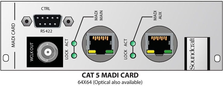 Soundcraft Local Rack MADI Cat5 Link Card 0