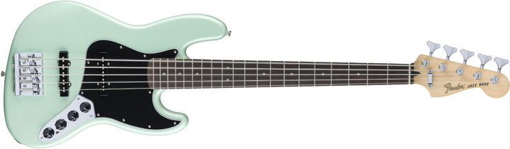 Fender Deluxe Active Jazz Bass V Pau Ferro Surf Pearl 0