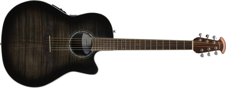 Ovation CS24P-TBBY Celebrity Standard Plus Mid Cutaway Trans Black Flame Maple
