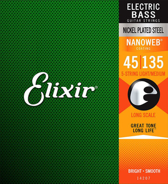 Elixir Nanoweb 14207 5-String Light/Medium Long Scale (45-135) 0