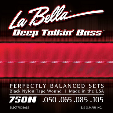La Bella Deep Talking Bass Black Nylon Tape Light 750N (50-105) 0