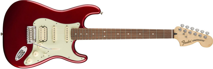 Fender Deluxe Stratocaster HSS Pau Ferro Candy Apple Red 0