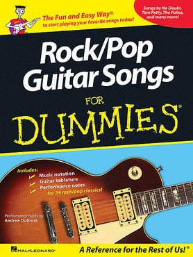 Hal Leonard HL00700845 - Rock/Pop Guitar Songs for Dummies 0