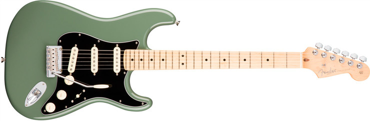 Fender American Professional Stratocaster Maple Antique Olive 0