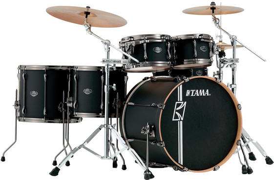 Tama Superstar Hyper-Drive Maple Custom ML52HZBNS-FBK Flat Black 0