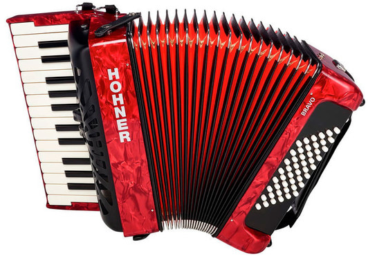 Hohner A16531 New Bravo II 48 Red 0