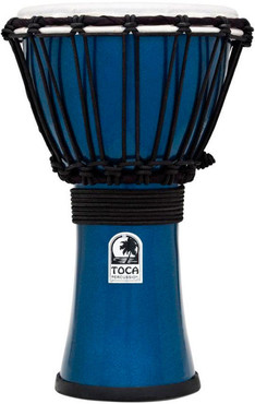 Toca TFCDJ-7MB Freestyle Colorsound Djembe Metallic Blue 0