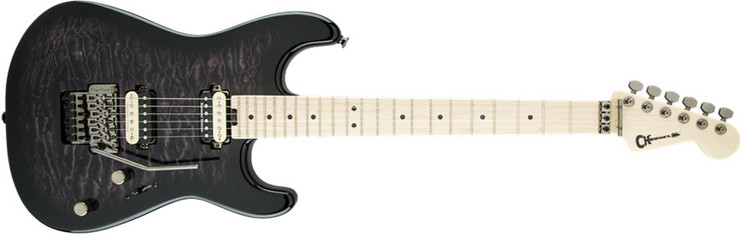 Charvel Pro-Mod San Dimas Style 1 HH FR M QM Maple Transparent Black Burst 0