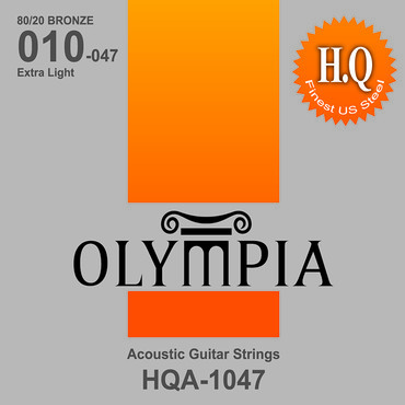 Olympia 80/20 Bronze Extra Light HQA1047 (10-47) 0