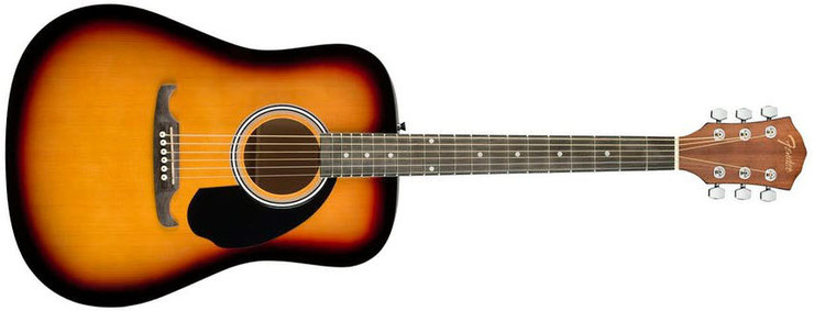 Fender FA-125 Dreadnought Sunburst Walnut 0