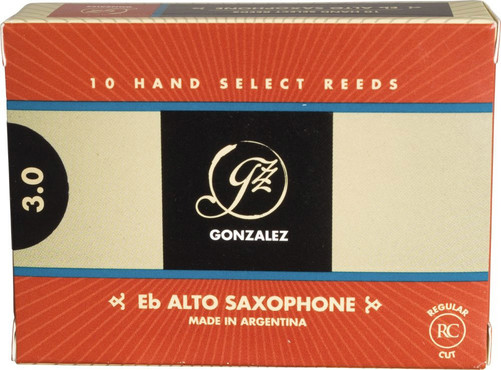 Gonzalez Reeds Alto Saxophone Regular Cut 3 (10 Pack) 0