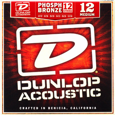 Dunlop Acoustic Phosphor Bronze Medium 12 String DAP1252J (12-52) 0