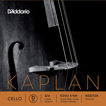 D'Addario Kaplan Cello Single D String 4/4 Medium Tension KS512 4/4M 0