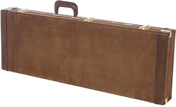 Gator GW-ELECT-VIN Deluxe Wood Electric Guitar Case Vintage Brown 0