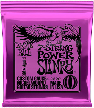 Ernie Ball 2620 Nickel Wound 7 String Power Slinky (11-58) 2